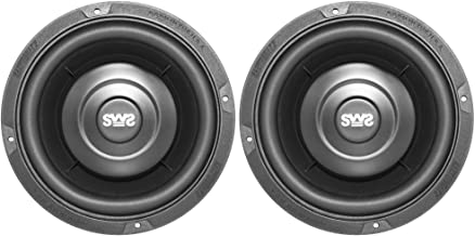 Earthquake Sound SWS-6.5X 6.5-inch Shallow Woofer System Subwoofers, 4-Ohm (Pair)