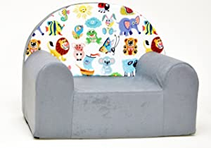 Kids Comfy Soft Foam Chair Toddlers Armchair Seat Futon
