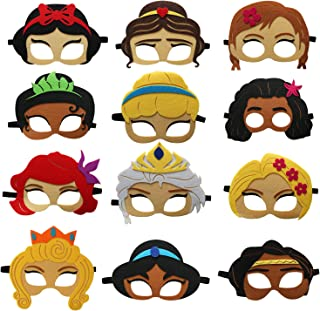 12 Packs Cute Princess Masks for Little Girls Birthday Party Favors,Birthday Party Decorations Costumes Parties Dress Up P...