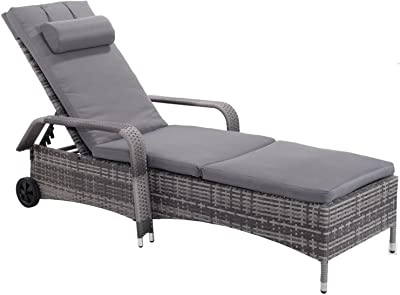 Amazon.com: Outdoor Patio Reclining Chaise Lounge Chair, Adjustable on pool chairs, relaxing chairs, cool chairs, oversized chairs, accent chairs, beach lounge chairs, rattan lounge chairs, indoor lounge chairs, bedroom chaise chairs, adirondack chairs, high back lounge chairs, leopard print chairs, outdoor lounge chairs, chaise beach chairs, living room chairs, leather lounge chairs, wicker chairs, dining chairs, office chairs, plastic lounge chairs,
