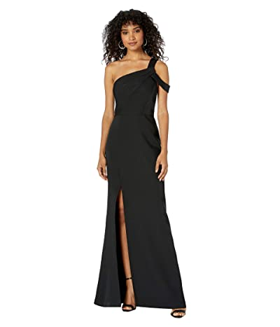 BCBGMAXAZRIA One Shoulder Gown (Black) Women