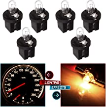 cciyu 6X Replacement fit for Mercedes R129 W140 W170 W202 W210 Instrument Panel light 1.2W Bulbs White/509t T5 Twist Halogen Light Bulbs Replacement fit for Instrument panel Gauge Cluster Speedometer
