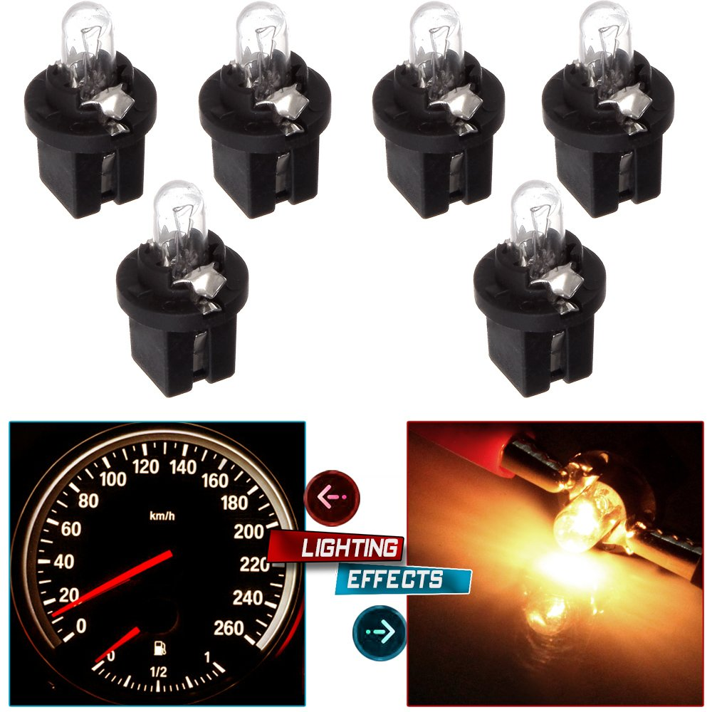 blue cciyu 4 Pack T4//T4.2 Neo Wedge 1SMD LED Climate Control Light Lamp Bulb Replacement fit for 1998-2010 Honda Accord//Odyssey//Civic