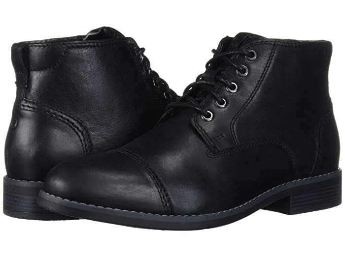 Men's 1920s Shoes History and Buying Guide Rockport Colden Cap Plain Toe Black Mens Shoes $79.82 AT vintagedancer.com