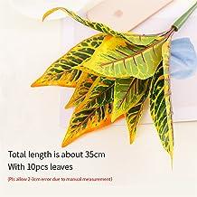 2 stks 35 cm kunstmatige planten bloemen zijde blad plastic groen gras boom plant fake blad gebladerte struik voor thuis b...