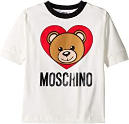 Short Sleeve Teddy Bear Heart Logo T-Shirt (Little Kids/Big Kids)