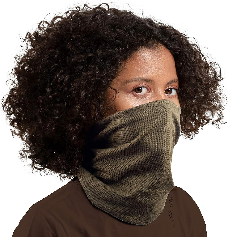 Face Mask Bandana 4Pcs Sun UV Protection Neck Gaiter Magic Headwear Cover Scarf Headband for Dust Outdoor Cycling Hiking