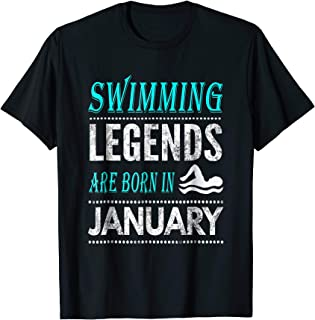 legends are born in january tshirt