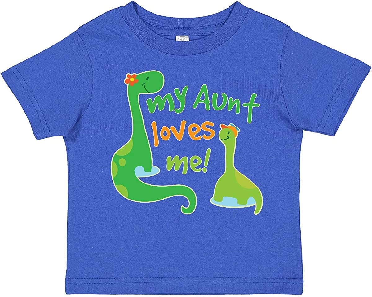inktastic My Aunt Loves Me Nephew Toddler T-Shirt