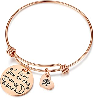 Women Girl Jewelry She Believed She Could So She Did Bracelet with Heart Tree of Life, Gifts for mom,her