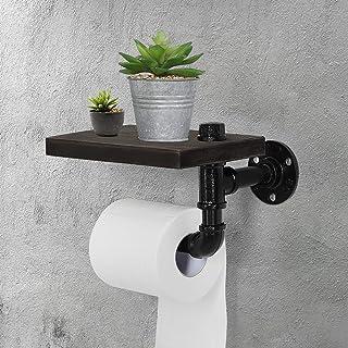 Porte Papier Toilette Bois Mural, PINPON Support Rouleau Distributeur Papier Toilette, Porte-Papier Hygiénique Original Pi...