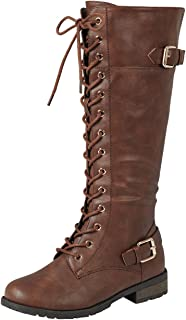 Best womens brown knee high lace up boots Reviews