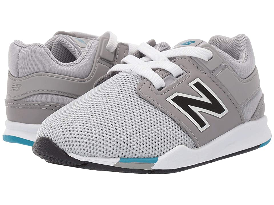 New Balance Kids IH247v2 (Infant/Toddler) (Rain Cloud/Deep Ozone Blue) Boys Shoes