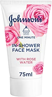 Johnson's Facial Mask, 1 Minute In-Shower Face Mask With Rose Water, 75 ml GI24500805