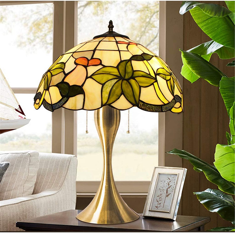 Hyun times 12-Zoll-2-Style-Retro-Tischlampe Glasmalerei-Nachttischlampe Kreative Lampe Luxus-Tischlampe - Ideal für für für Nacht- und Schlafzimmer (Farbe   B) B07P78542K     | Queensland  8324cd