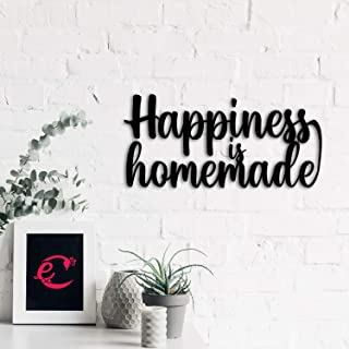 eCraftIndia Happiness is Homemade Black Engineered Wood Wall Art Cutout, Ready to Hang Home Decor, one Size (WMDFCO105)