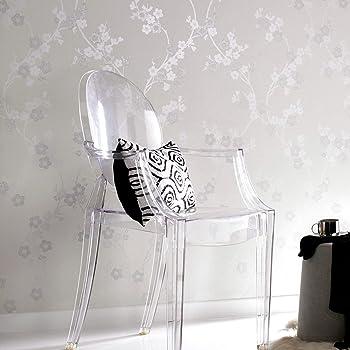 Super fresco Cherry Blossom White Mica Wallpaper