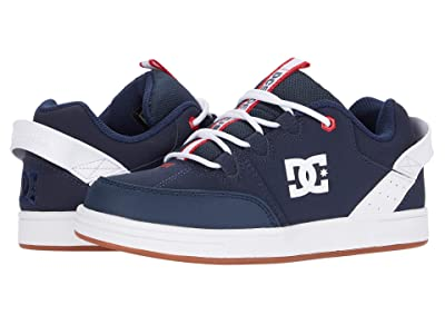 DC Kids Syntax (Little Kid/Big Kid) (Navy/Red) Boys Shoes