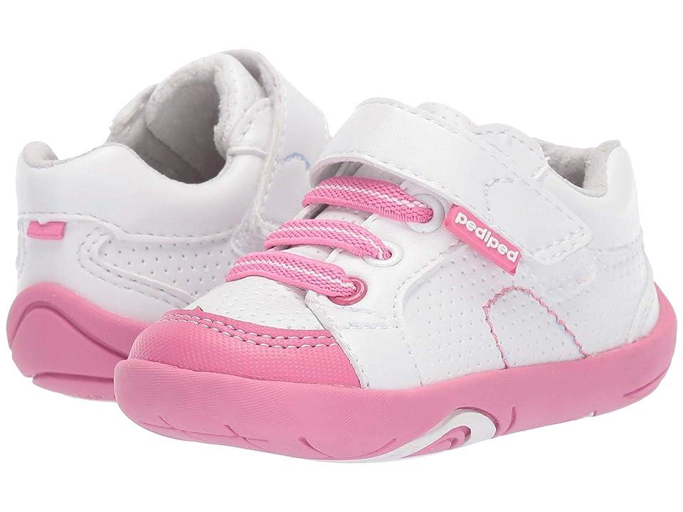 pediped Dani Grip n Go (Toddler) (White/Pink) Girl