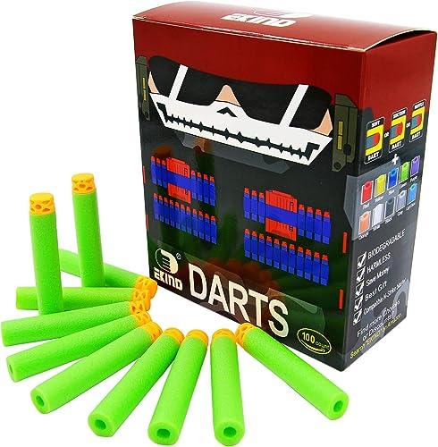 EKIND 100 Pcs 7.2cm  TPR Waffles Soft Head Darts Refill Foam Bullet Compatible for Nerf N-Strike Elite AccuStrike Ser...
