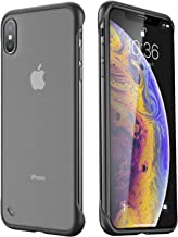 ANDMO Super Thin iPhone X Case/iPhone Xs Case, Hybrid Hard Plastic Matte Finish Slim iPhone Mobile Cover & Frameless Slim Fit Phone Case for iPhone X/iPhone Xs 5.8 inches, Black