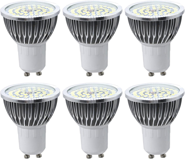House full of romance 7W quivalent GU10 Medium Standard Basis 2835SMD LED Licht dekorative LED-Lampe Scheinwerfer AC 85-265V (Pack 6) Einfach zu verwenden (Gre   Natürliches Wei)