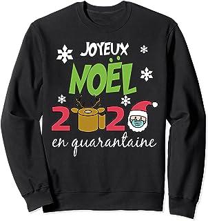Joyeux Noël 2020 en quarantaine Cadeau de Noël drôle フレンチ トレーナー