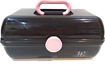 Caboodles On The Go Girl Makeup Cosmetic Case Retro Look (black)