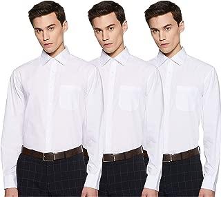 Marks & Spencer Men's Solid Regular fit Formal Shirt, (Pack of 3)