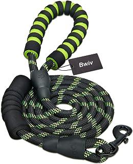 Bwiv 1.8M Laisse pour Chien avec 2 Poignées Souple Solide Corde Réfléchissants pour Moyens ou Grands Chiens à Promenade Ra...