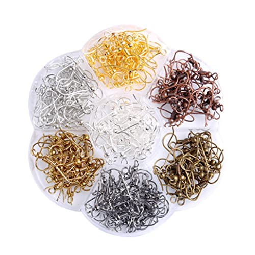 FP 100-Piece Mix Ear Wire Fish Hooks for Jewelry Making Silver Gold Black