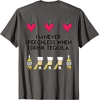 Speechless Tequila Shirt Hearts Tequila Shots Shirt