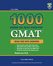 Columbia 1000 Words You Must Know for GMAT: Book One with Answers