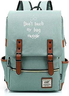 Adolescente Junior High School Estudiante Mochila Niño Niña Schoolbag Harry Potter Ligero Impermeable Oxford Ropa Mochila Medio Verde