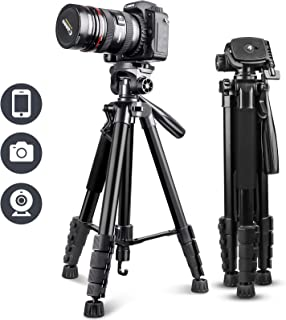 """UBeesize 67"""" Camera Tripod with Travel Bag, Cell Phone Tripod with Wireless Remote and Phone Holder, Compatible with All C..."""