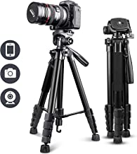 """UBeesize 67"""" Camera Tripod with Travel Bag, Cell Phone..."""