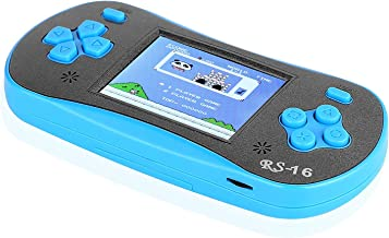 FAMILY POCKET RS-16 Children's Handheld Game Console Portable Video Game Retro Game Console with 2.5-inch LCD Monitor Built-in 260in1 Classic Video Game, Back to School Gifts-Blue
