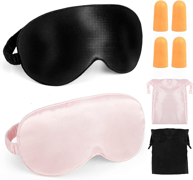 Sale Silk Sleep Regular dealer Mask ProChosen 2 Packs Eye Double Smooth Soft Layer