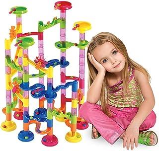 لعبة اصنعها بنفسك تأتي بقوالب بناء مسارات متاهة سباق وكرات زجاجية (105 قطعة)