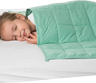 Calming Weighted Blanket for Kids - Children Heavy Blanket for Sleeping - Kid Comfort Sensory Blankets with Minky Cover for Boys and Girls (Mint Weighted Blanket, 5 Lbs 36