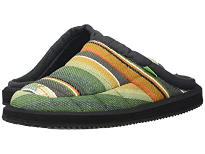 Sanuk Puff N Chill Low Funk (Charcoal Multi Blanket) Men