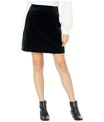 J.Crew Velvet Midi Skirt (Black) Women