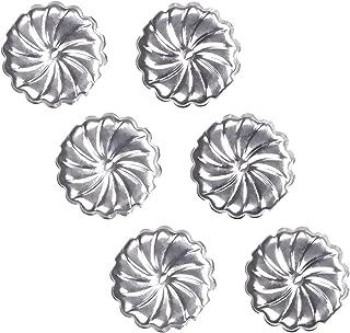uGems Sterling Silver Jumbo Earring Backs Premium RH Swirl 9mm (3 Pairs)