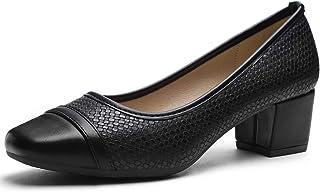 CINAK Comfort Pumps Chunky Heel Slip-on Women's Casual...
