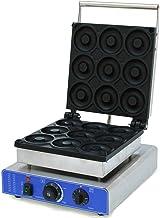 Machine à donuts professionnelle en acier inoxydable - 1,8 kW - Pour 9 donuts - 9 cm