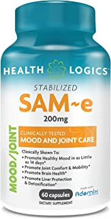 Health Logics SAM-e 200mg, Support Mood and Joint Care, Enteric Coat Free, Gluten Free, Non-GMO, Vegan, Made with Adomix (...