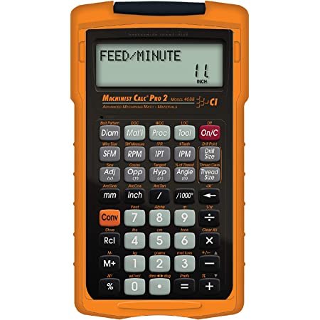 Calculated Industries 4088 Machinist Calc Pro 2 Advanced Machining Calculator   Speeds and Feeds, DOC, LOC and WOC for Materials and Tool settings   Machinists, Setters, Tool & Die Makers, Shop Owners
