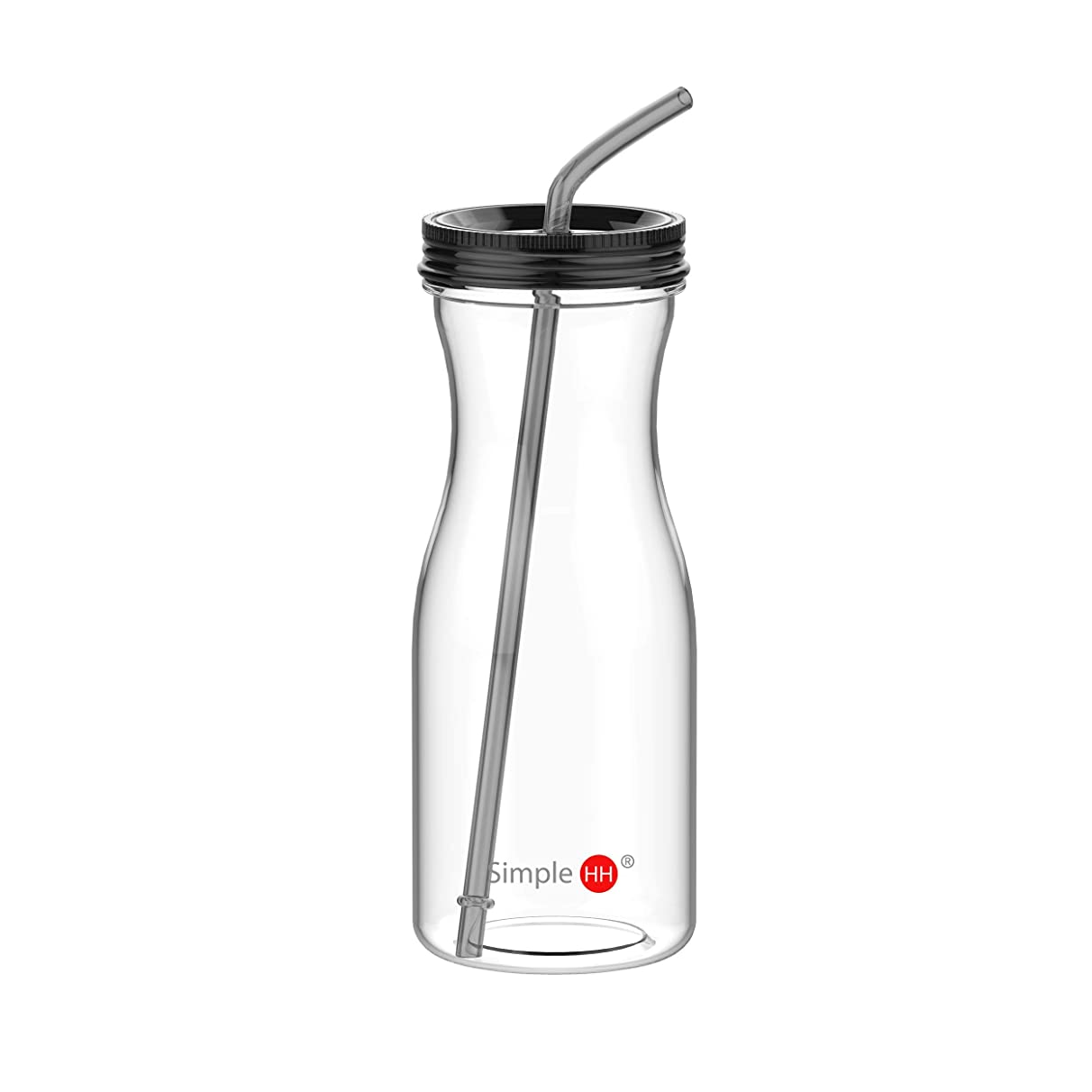 SH Tritan Water Bottle with Straw by SimpleHH: BPA Free Cold Drink/Water Container   33oz Dishwasher-Safe Tumbler   Extra Wide Mouth w/Easy Twist Lid