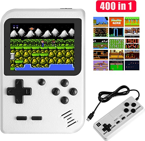 JAMSWALL Handheld Game Console, 400 Classical FC Games 2.8-Inch Screen 800mAh Rechargeable Battery Portable Retro Vid...