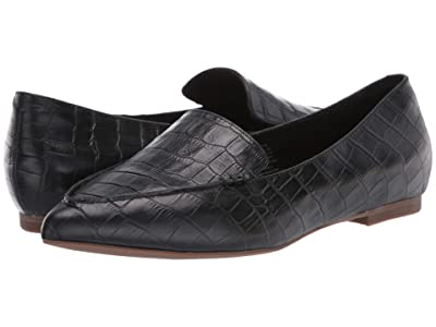 Blondo Silvia Waterproof Flat (Black Croco) Women